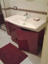 mobile bagno moderno laccato bordeaux di falegnameria cover ... - Bagni Moderni Bordeaux